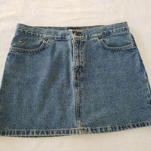 Tommy Hilfiger Jean Skirt Logo Vintage 90s Mini 11